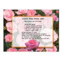 Carol's Rose Petal Jam Recipe Postcard
