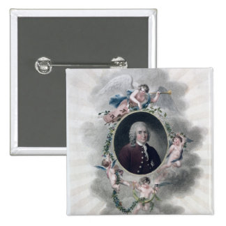 Carolus Linnaeus, caballero de la estrella polar Pin Cuadrado
