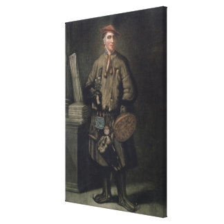 Carolus Linnaeus  in his Lapland Dress Canvas Print