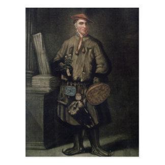 Carolus Linnaeus  in his Lapland Dress Postcard
