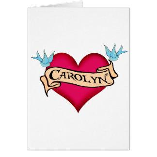 Carolyn - camisetas y regalos de encargo del tatua tarjeta
