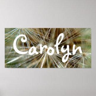 Carolyn Dandelion Bedroom Door Banner Poster