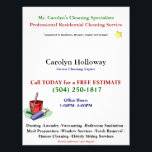 """Carolyn Holloway Sample Flyer-Cleaning Services Flyer<br><div class=""""desc"""">Vibrant White Flyer</div>"""
