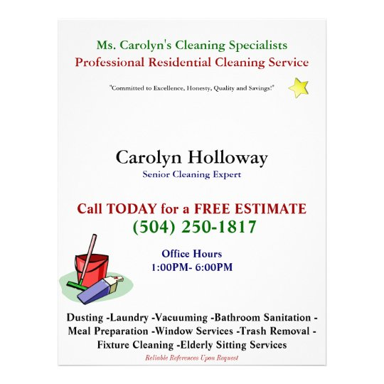 sample cleaning service flyers