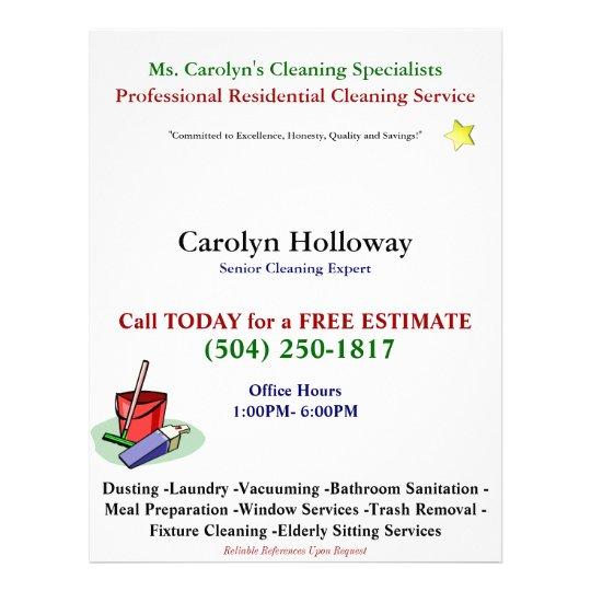 carolyn holloway sample flyer