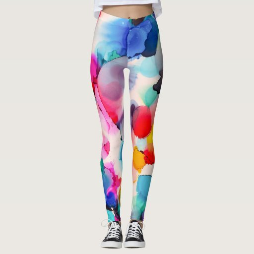 Zazzle Carolyn Joe Art Athleisure Leggings