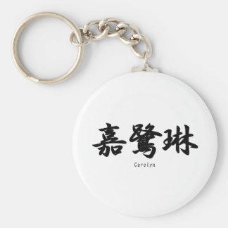 Carolyn tradujo a símbolos japoneses del kanji llavero personalizado
