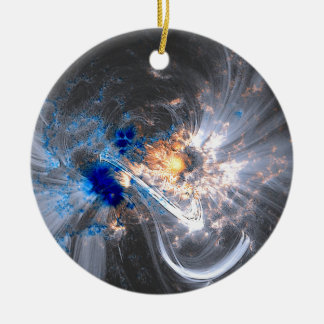 Caronal loops sun flares solar NASA Ceramic Ornament