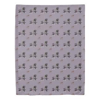 Carousal Horse Lavender Duvet Cover