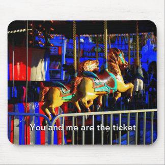 Carousal Horses Ride Carnival Festival Fair Mouse Pad