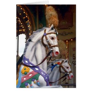 carousal pony greeting card