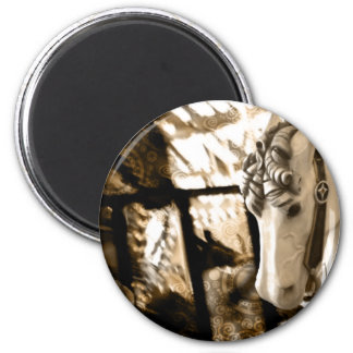 carousel 2 inch round magnet