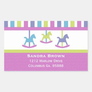 Carousel Address Stickers