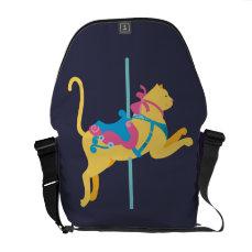 Carousel Animal Cat Courier Bag