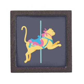Carousel Animal Cat Jewelry Box