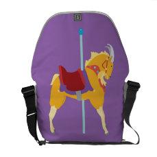 Carousel Animal Goat Courier Bag