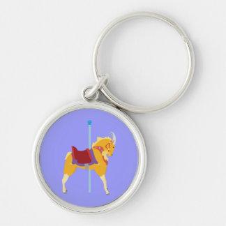 Carousel Animal Goat Keychain