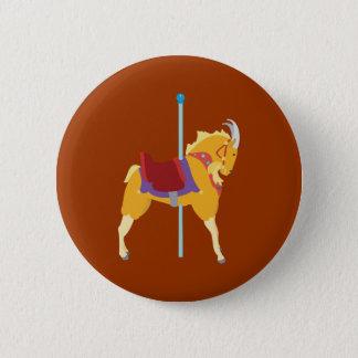 Carousel Animal Goat Pinback Button