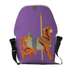 Carousel Animal Tiger Messenger Bag