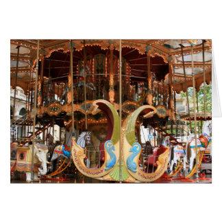 Carousel at d'Horloge Card