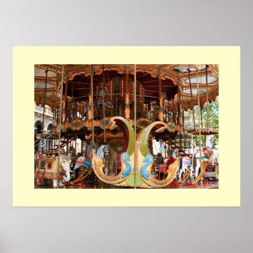 Carousel at d'Horloge Print