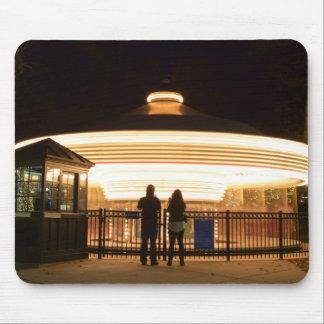 Carousel at Night Mousepad