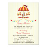 Carousel Baby Shower 5x7 Paper Invitation Card