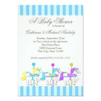 Carousel Baby Shower Card