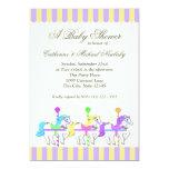 Carousel Baby Shower Purple Gold Custom Invites
