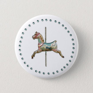 Carousel Badge by Black Cherry Pinback Button