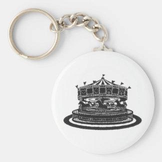 Carousel Basic Round Button Keychain