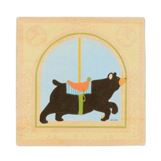 Carousel Bear by June Erica Vess Wood Coaster
