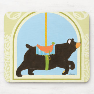 Carousel Bear by June Erica Vess Mouse Pad