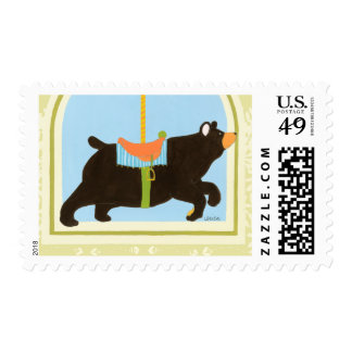Carousel Bear by June Erica Vess Postage