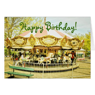 Carousel Birthday Greeting Card