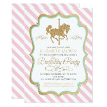 Carousel Birthday Invitation