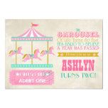 Carousel Birthday Party Card at Zazzle