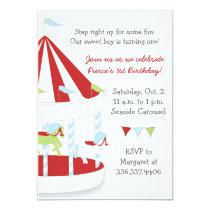 Carousel Birthday Party Card