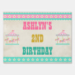 Carousel Birthday Party Lawn Signs