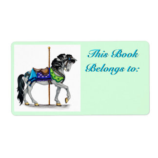 Carousel Book Plate Label