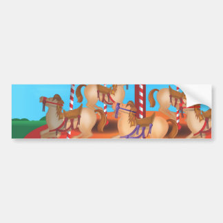 Carousel Car Bumper Sticker