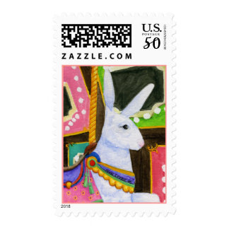 Carousel Bunny Postage Stamp