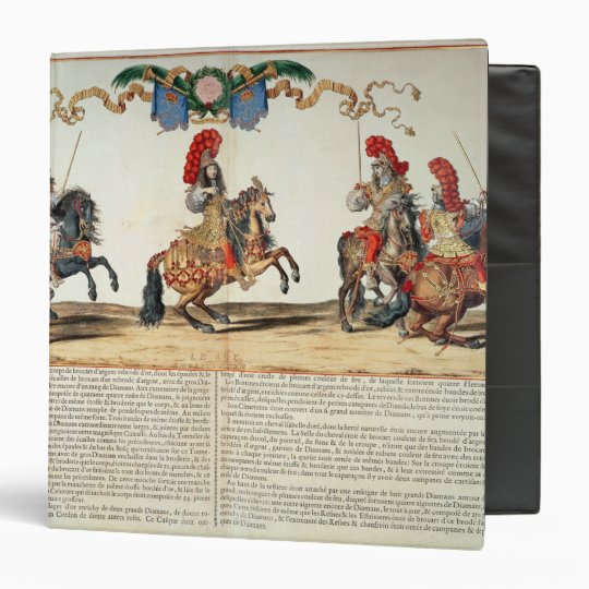 Carousel by Louis XIV  Front of Tuileries Binder