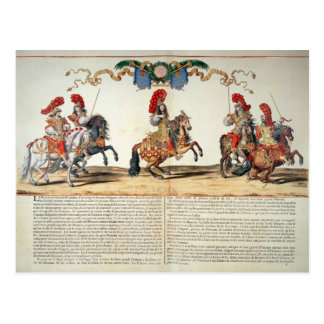 Carousel by Louis XIV  Front of Tuileries Postcard