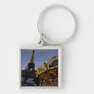 Carousel by the Eiffel Tower in the evening, Keychain
