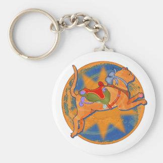 Carousel Cat Keychain