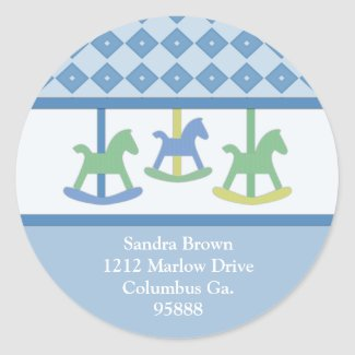 Carousel Collection Address Stickers sticker