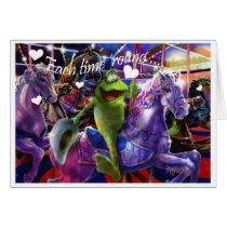 Carousel Cowboy Valentine Card