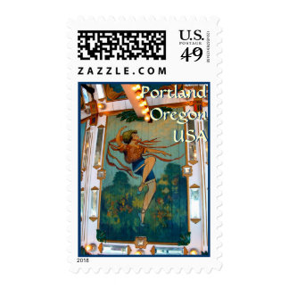 Carousel Dancer ~ Oaks Park Postage Stamp