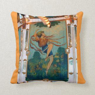 Carousel Dancing Girl Throw Pillow